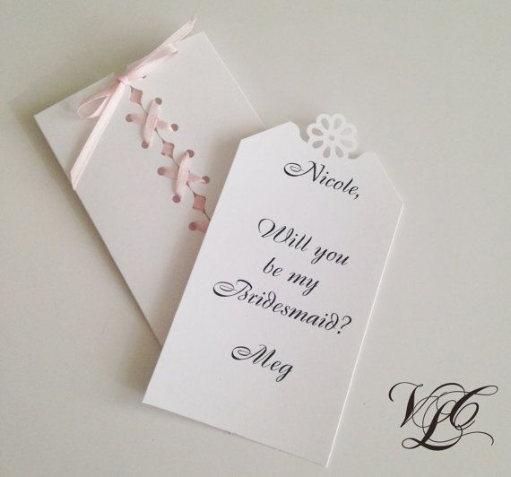 Will You Be My Bridesmaid card Personalized by VintageChicLace