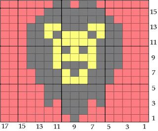Bird hearts Bear: More Hexipuff Knitting Charts