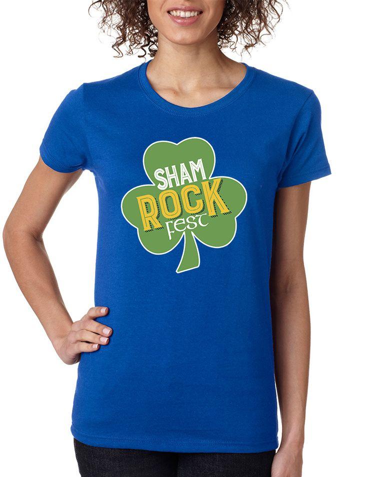 Women's T Shirt Shamrock Fest St Patrick's Day Party Shirt