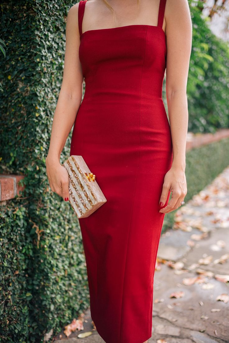 Gal Meets Glam The Red Dress - Cinq A Sept dress