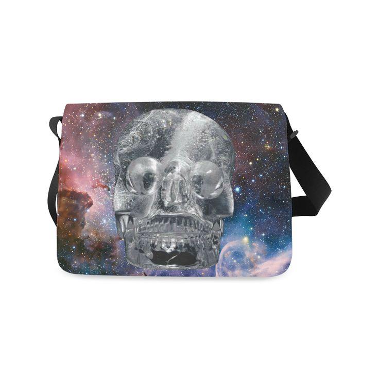 Crystall Skull Messenger Bag. FREE Shipping. #artsadd #bags #skull