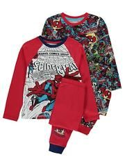 Marvel Spiderman 2 Pack Pyjamas