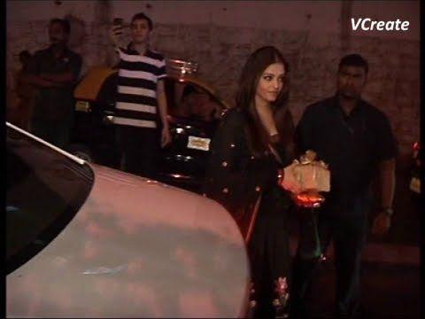 aishwarya rai with hubby abhishek bachchan at sanjay leela bhansali's birthday party.