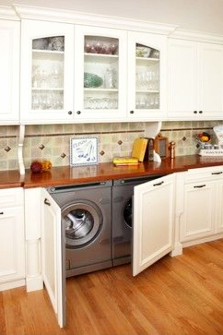 Laundry Nook Ideas We Love Small House Kitchen Ideas Kitchen Remodel Small Kitchen Design Small