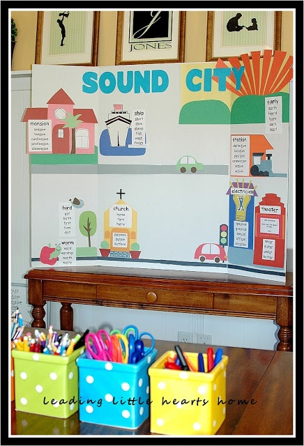 IEW Phonetic Zoo or PAL (aka Sound City).  I love having my visuals handy and equally I love them all all folded up and put away when I am done.  It's a portable classroom.