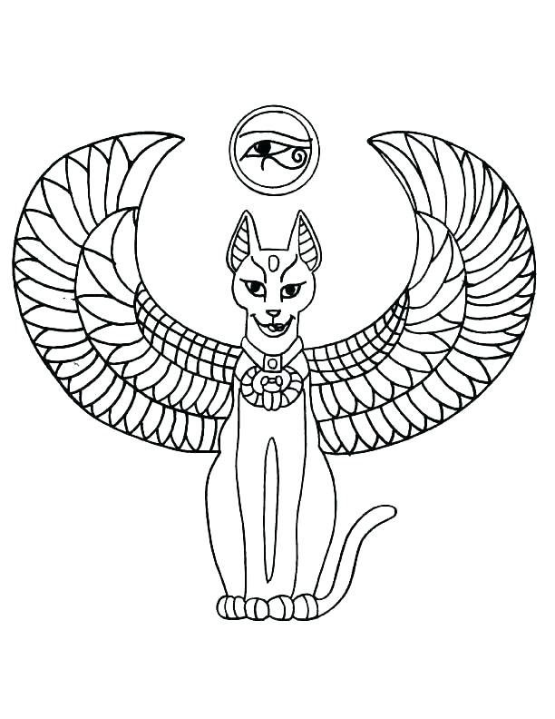 Ancient Egypt Coloring Book Egyptian Cat Tattoos Egypt Tattoo
