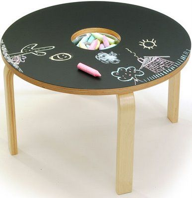 This would be great at a day care!!:). chalkboard table - easy DIY - great idea!