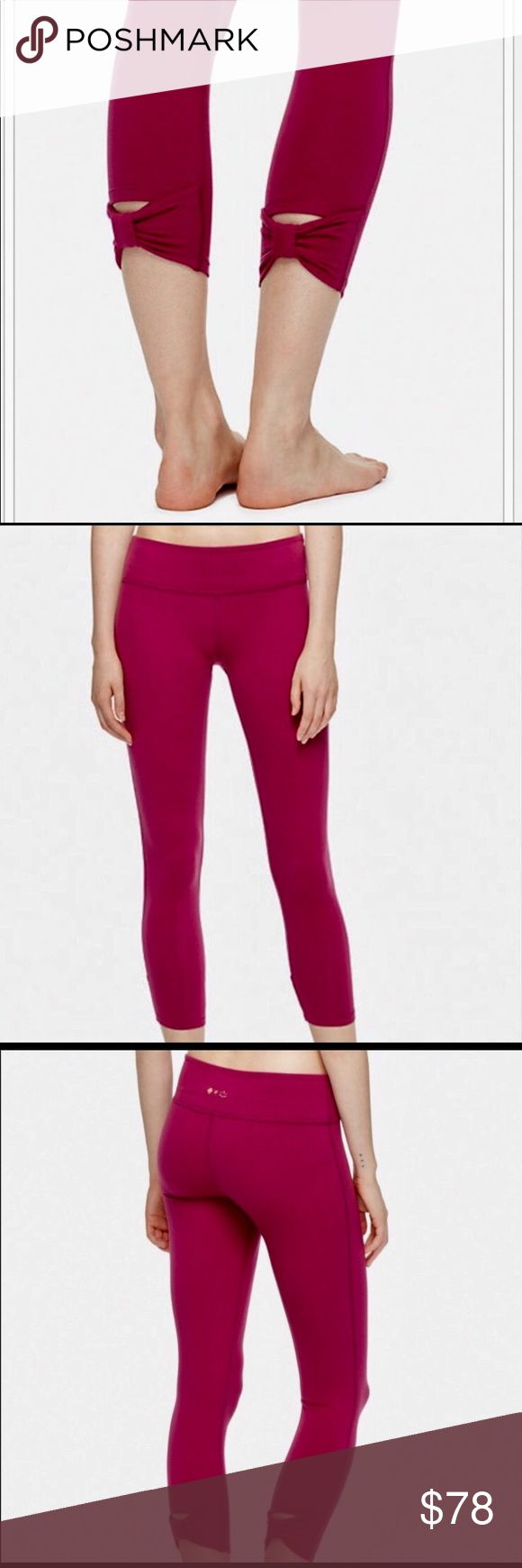 Kate Spade for Beyond Yoga Yoga Athletic Leggins Merlot/Magenta ColorWonderful collaboration with Kate Spade and Beyond Yoga High End Yoga Barre Leggings. Adorable signature Bow at back of legs. Supplex is an ultra soft moisture wicking fabric!! Provides generous stretch and full recovery maintaining full color after every wash! Gentle cycle and only air dried. Ideal for even the most vigorous workouts. 90% Cotton 10%Lycra 4 way stretch!! Quick Drying Kate Spade Pants Leggings