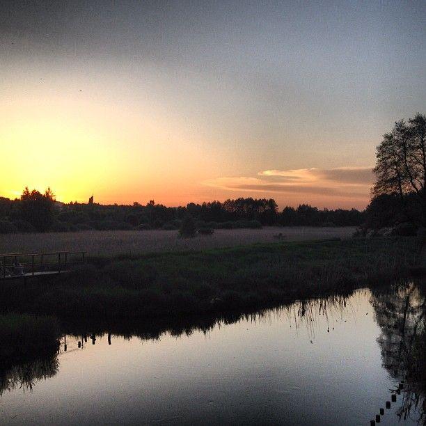 Sunset in Kortowo, Olsztyn, Poland #sunset #river #mtb