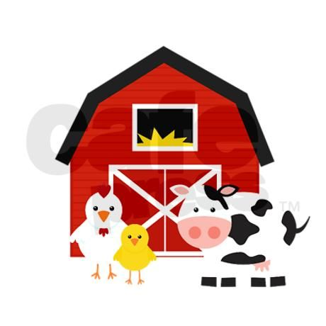 Cartoon Farm Barn Shower Curtain By Bbf Farm Barn Barn