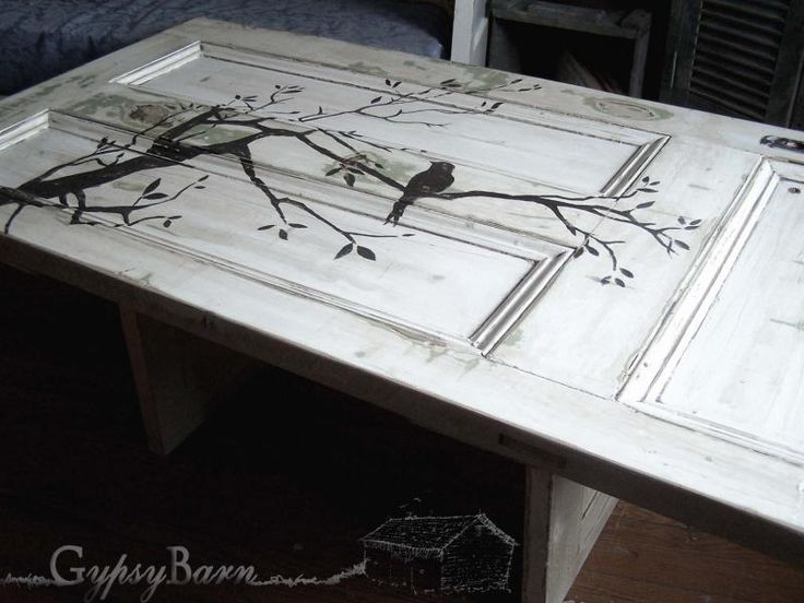 Coffee table bases for glass tops woodworking projects for Old door into coffee table