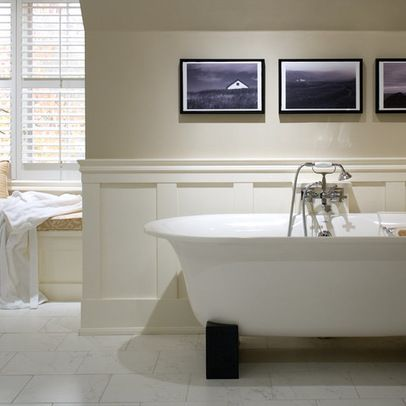 Wainscoting In The Bathroom Design Ideas, Pictures, Remodel, and Decor