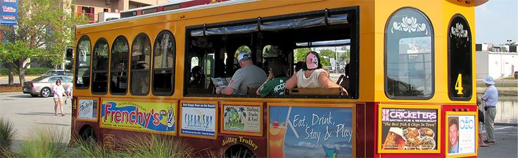 The Jolley Trolley will take you to Clearwater Beach, Downtown Palm Harbor, Downtown Dunedin and Safety Harbor (separate route) for just about $4 per day, per person and you can get on and off as often as you like! Consider it your limo driver, your designated driver and your tour guide all wrapped up in one.