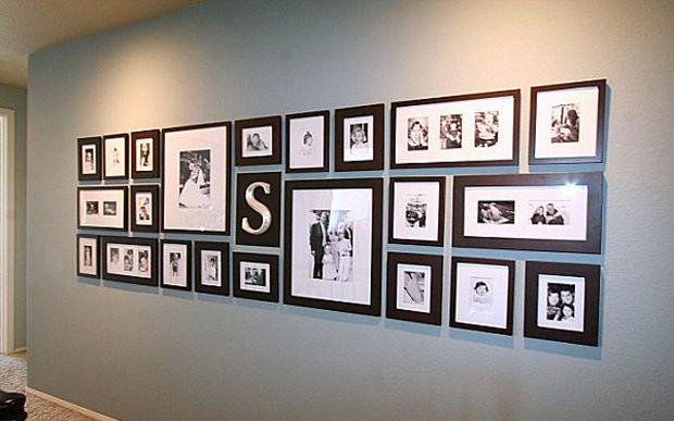 Accrocher vos photos avec des cadres de différentes tailles