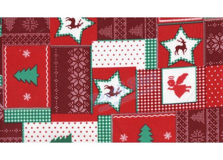 Patchwork Navidad Rojo