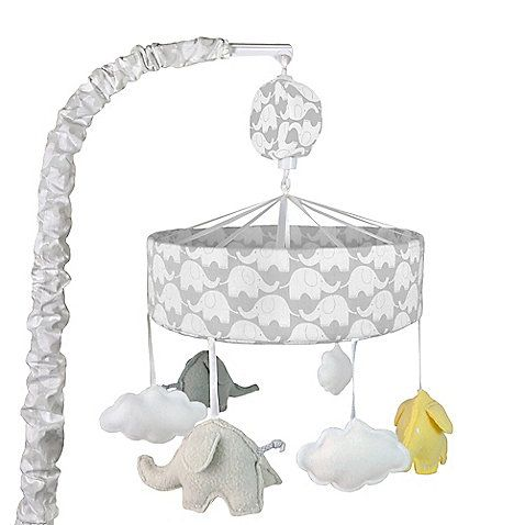 Create the nursery of your dreams with the Just Born Mix & Match bedding separates and room decor. This fun Musical Mobile features elephant plush characters that dance overhead to a soothing lullaby, helping entertain and calm restless little ones.