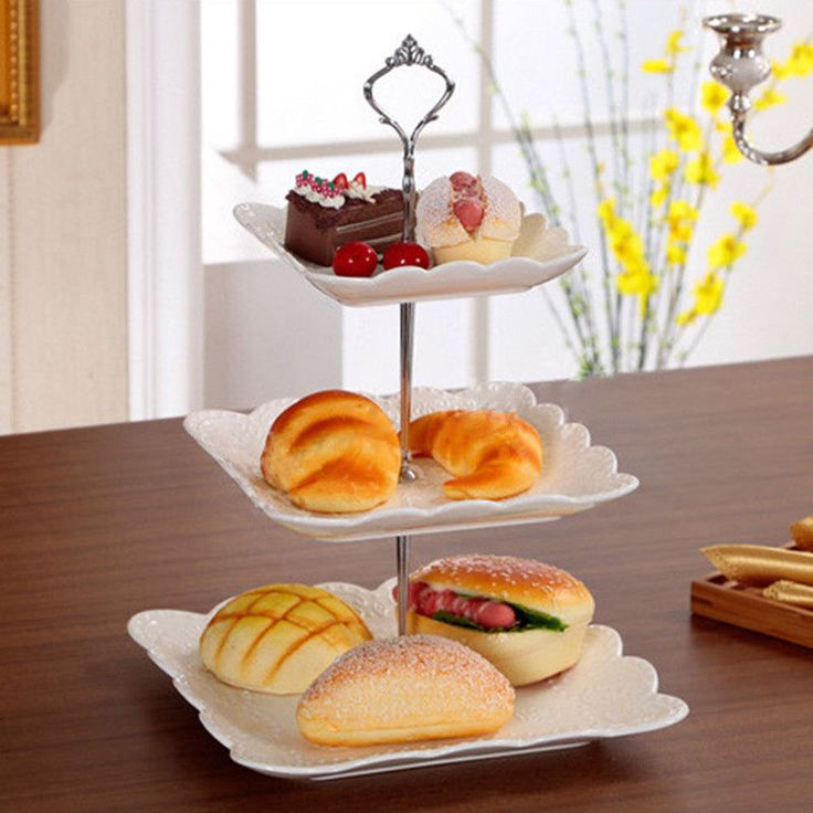 Stainless Silver Crown 3 Tier Cupcake Stand Wedding Birthday Cake Display Tower  #UnbrandedGeneric