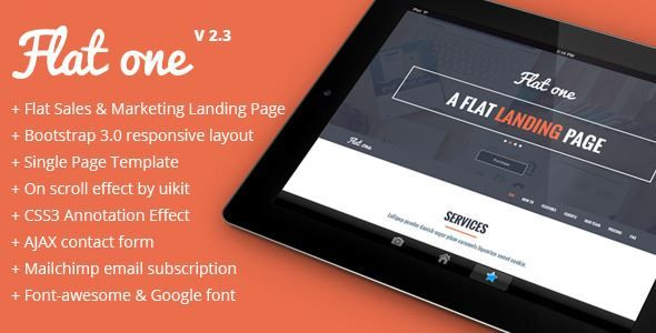 ThemeForest - Flatone Sales and Marketing Landing Page  Free Download
