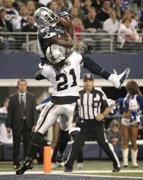 #88 Dez Bryant catches touchdown against an old Dallas Cowboy Mike Jenkins.