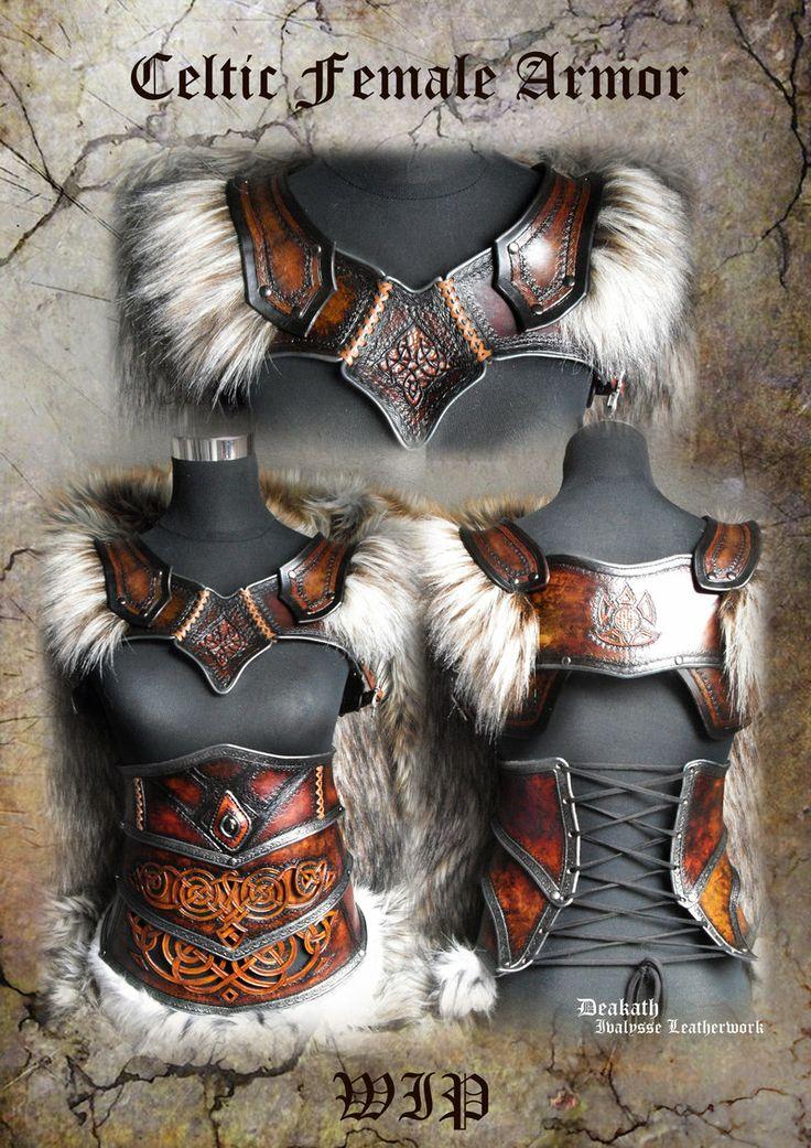 Celtic Female Armor set - WIP by Deakath.deviantart.com on @deviantART