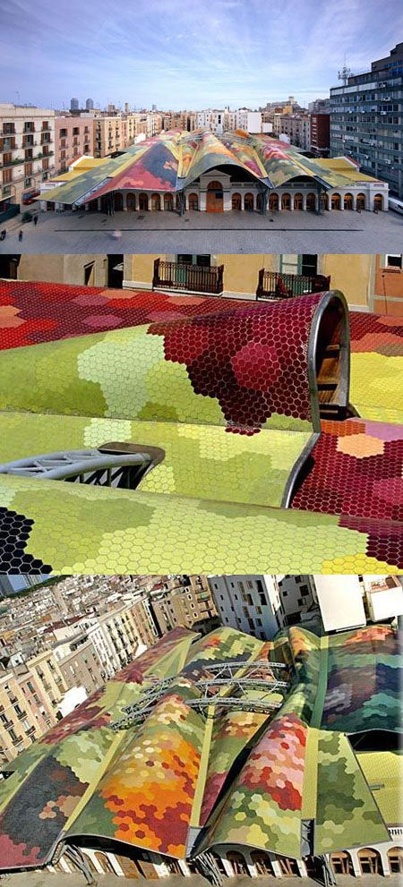 MERCADO DE SANTA CATERINA en BARCELONA, ESPAÑA by EMBT | Enric Miralles - Benedetta Tagliabue