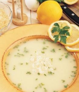 Greek lemon soup (Avgolemono)...excellent hangover cure!