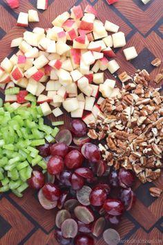 recipe: chicken macaroni salad with grapes [37]