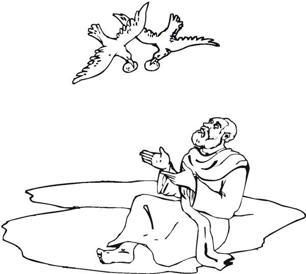 Prophet Elijah Bible Coloring Pages Sketch Coloring Page