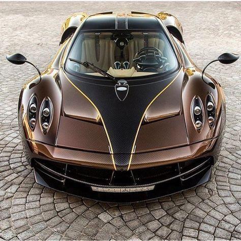 Brown Carbon Pagani Huayra #Pagani #PaganiSupercar #sportscars