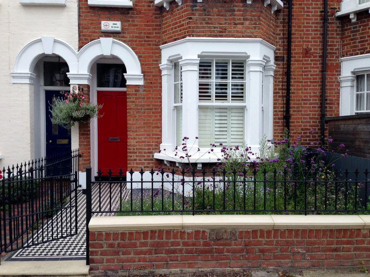 front wall rail garden mosaic victorian tile path balham london