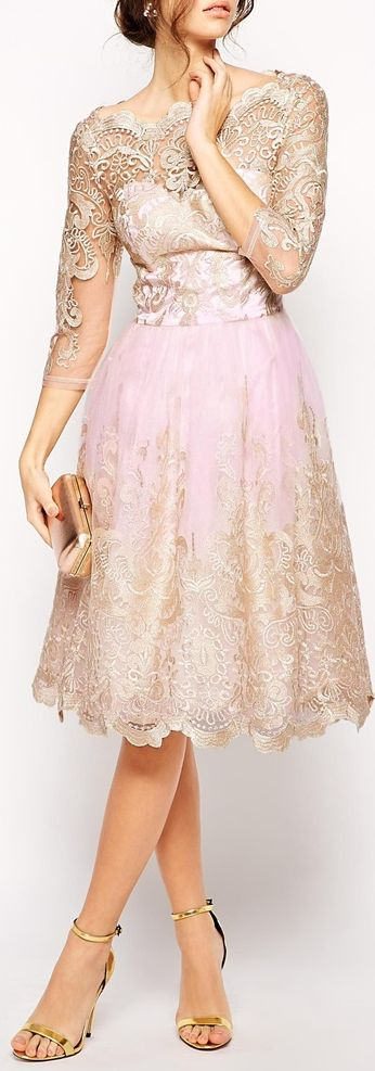 metallic lace bardot dress