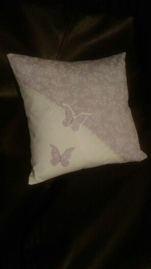 Purple buttetfly cushion