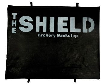 """""""The Shield"""" Archery Backstop for backyard shooting hang it behind 3d targets etc."""