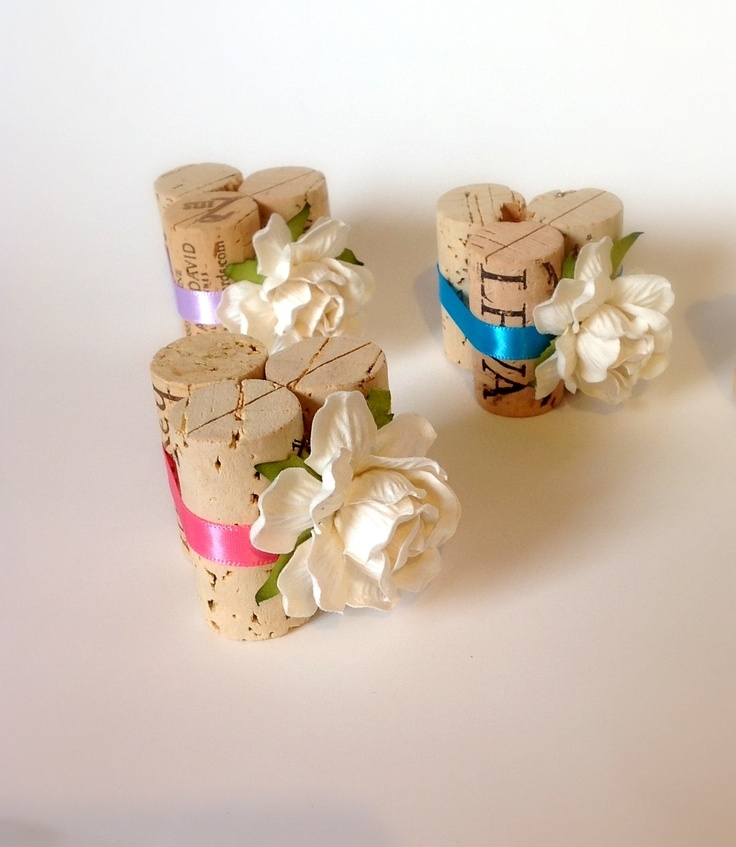table number cork holders | Wine Cork Table Card Holder, Place Card Holders, Weddings Table ...