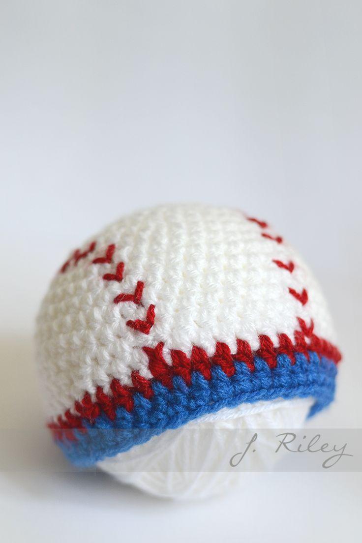 White baseball caps for crafts - Crochet Baseball Hat Inspiration Image
