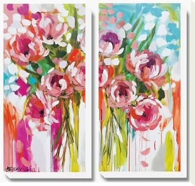 Sunburst Symphony Custom Stretched Canvas Print by Amanda J. Brooks at Art.com