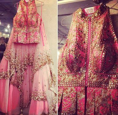Gorgeous pink anarkali by Papa Dont Preach , Mumbai https://www.wedmegood.com/vendors/profile/Papa-Dont-Preach-5086