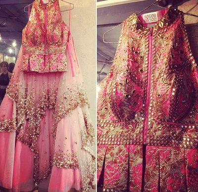 Pink Anarkali by Papa Dont Preach | WedMeGood #pink #anarkali #wedmegood