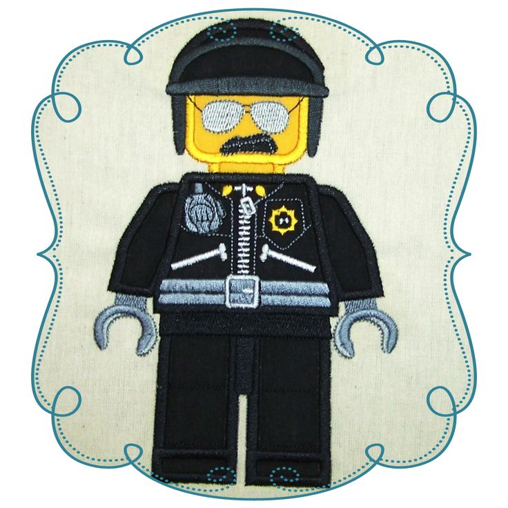 Lego Character Applique Machine Embroidery Design Pattern-Loves Applique
