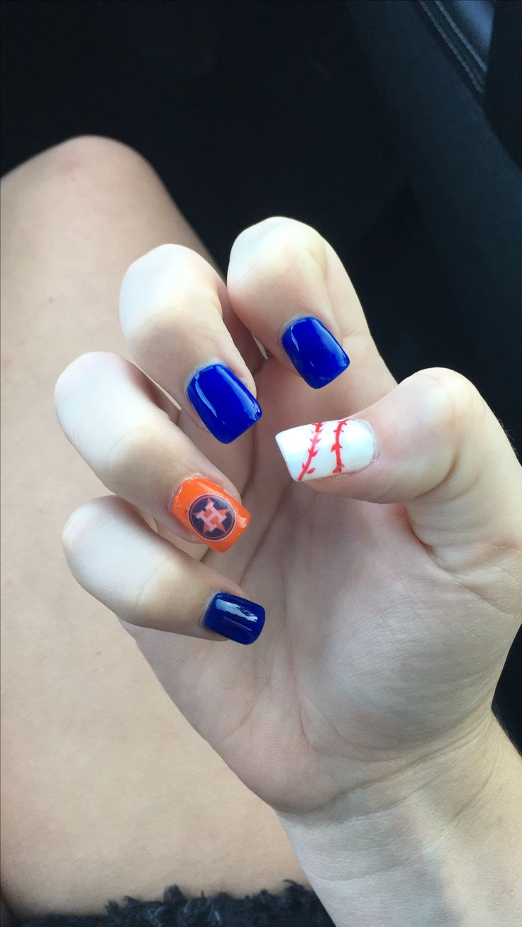 The 8 best astros nail art images on Pinterest | Houston astros ...