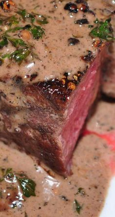 Recipe for Filet Mignon au Poivre - My favorite fancy steak dish is steak au poivre (with pepper). This is a simple version of the steak au poivre you've had in restaurants.