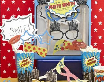 Escribano partido de superhéroe Pop Art por littlepartycompany