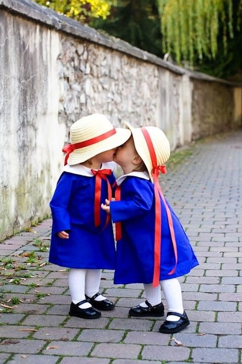 Madeline baby toddler style...adorable and I love the literary reference