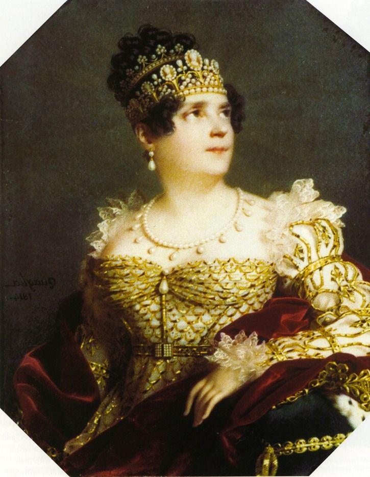 1807 Ivory miniatura da imperatriz Josephine por Ferdinand-Paul-Louis Quaglia | Grandes senhoras | gogm