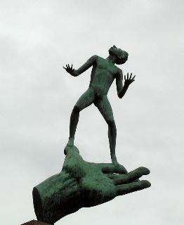 The Hand of God, Carl Milles. Stockholm.