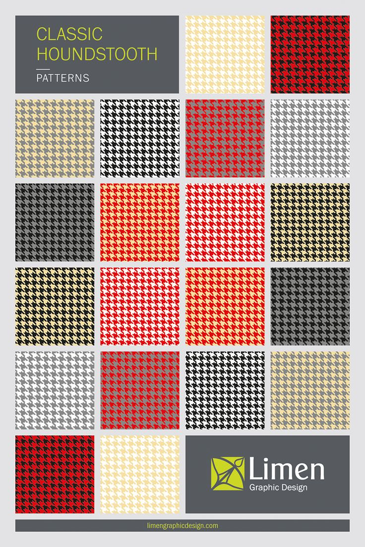 Add a classic flavor to your products and design with my Houndstooth Patterns. Visit my shop for more collections.