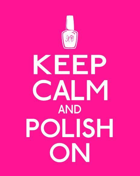 Keep Calm and Polish On, cute print for a teen girl's bedroom or dorm. Shown in Hot Pink, by Paper Plane Prints, $18.00