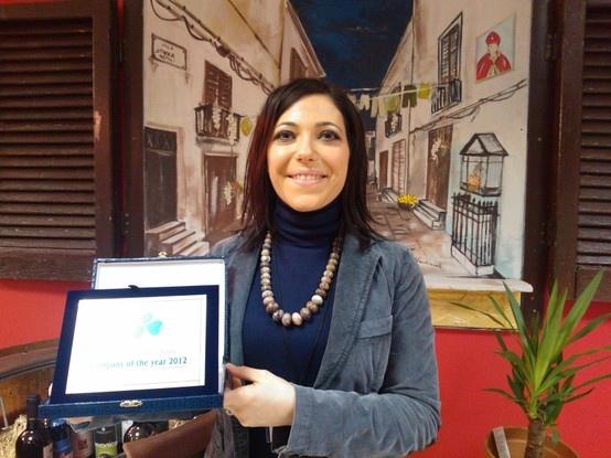 """FIBI Award """"company of the year"""" to """"Pastificio La Fenice"""" - Francesca receives the award ;)"""