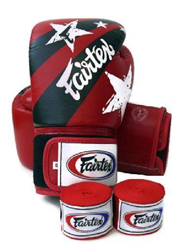 Fairtex Muay Thai Boxing Gloves. BGV1 - Nation Print. Limited Edition. Color: Red. Size: 12 14 16 oz. Training, Sparring Gloves for Boxing, Kick Boxing, MMA (Red, 16 oz)