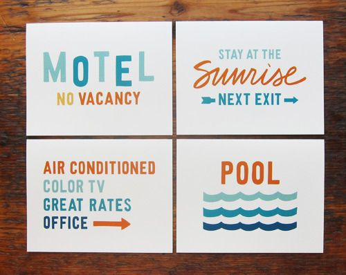 Motel Card Set by Scout's Honor Co.
